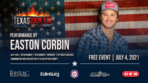 […] At sunset attendees can expect a spectacular firework display in Edinburg,TX. Followed by the performance of American Country Award winner, Easton Corbin.